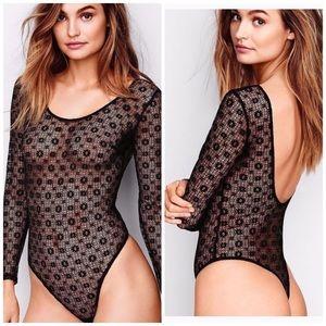 Victoria's Secret Lacy Teddy Bodysuit S